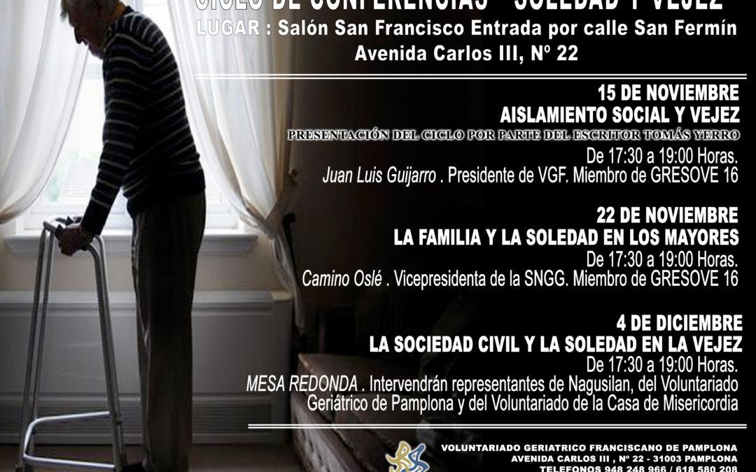"""CICLO CONFERENCIAS: """"SOLEDAD Y VEJEZ"""""""
