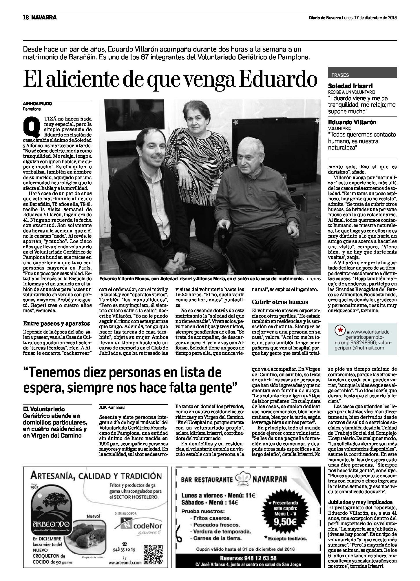 """""""El aliciente de que venga Eduardo"""""""